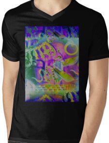 5734gvi Buddha and Winged Serpent Mens V-Neck T-Shirt