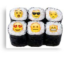 Emoji Sushi Canvas Print