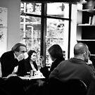 Paris cafe life by Alexander Meysztowicz-Howen