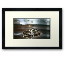 Royal Water and its Crown Framed Print