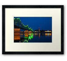 Wloclawek Lights Framed Print