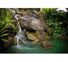 Auburn Chinese Garden Waterfall Photographic Print