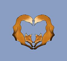 Heartful Foxes by AyllieyaRosa