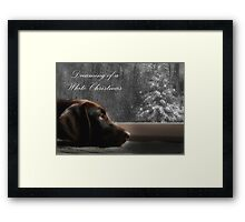 Dreaming of A White Christmas - Card Framed Print