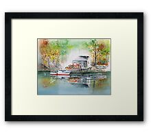 Lobstermen's Maine Hideaway... Framed Print