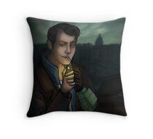 Butch in Rivet City Throw Pillow
