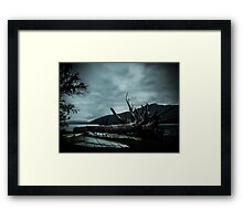 Ghost Surfers Cove Framed Print