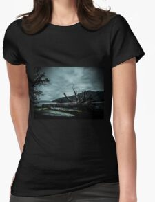 Ghost Surfers Cove Womens Fitted T-Shirt
