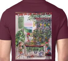 Our little corner of San Clemente ( Look carefully you will spot the eave and the roof) Unisex T-Shirt