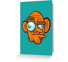 Old Poker Face Greeting Card
