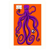 Protest Octopus Art Print