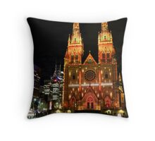 St. Mary's Cathedral, Sydney Vivid Throw Pillow