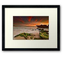 Moss Rocks Framed Print