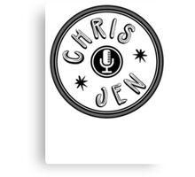 Chris and Jen Circle Stamp (Black) Canvas Print