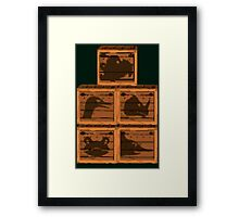 Donkey Kong Country - Animal Crates Framed Print