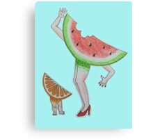 Fruit Family Canvas Print