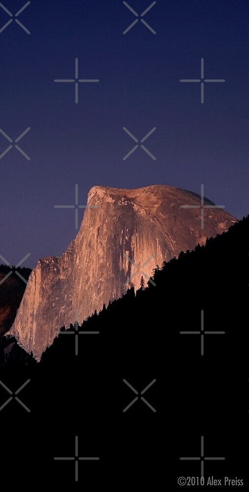 Half Dome At Sunset by Alex Preiss