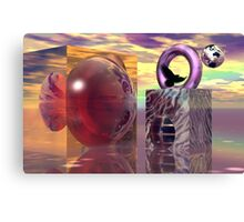 Raven in a magical world Canvas Print