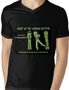 Night of the Undead Hipsters Mens V-Neck T-Shirt