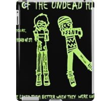 Night of the Undead Hipsters iPad Case/Skin