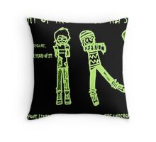 Night of the Undead Hipsters Throw Pillow
