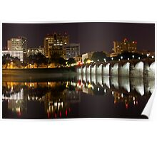 Market Street Bridge Reflections Poster