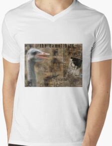 About the Ostrich Mens V-Neck T-Shirt