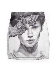 Girl with Moth Mini Skirt