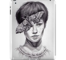 Girl with Moth iPad Case/Skin