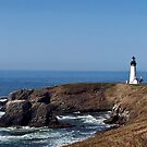 Yaquina Head lighthouse, Oregon by Nancy Richard
