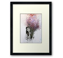 I tried to draw my soul but all I could think of was flowers Framed Print