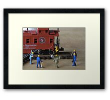 Kalli, the owner of the train was a fitness guru. The track workers agreed she had a great caboose Framed Print