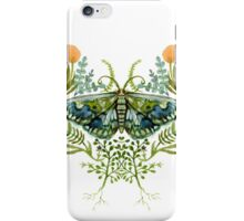 Moth with Plants iPhone Case/Skin