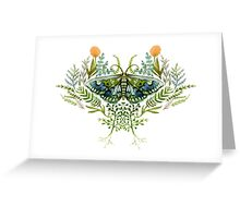 Moth with Plants Greeting Card