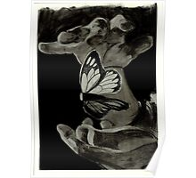 Suspended Butterfly Poster