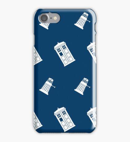 TARDIS and Dalek infinity pattern iPhone Case/Skin