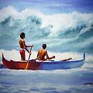 Outrigger Canoe by Norman Kelley