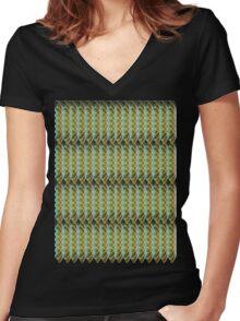 Nature's Swirls Women's Fitted V-Neck T-Shirt