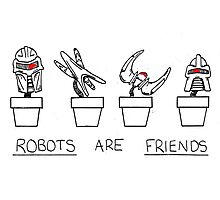 Robots Are Friends Photographic Print