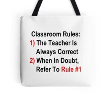 Classroom Rules Tote Bag