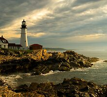 Sunrise at Portland Head Lighthouse by Alana Ranney