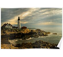 Sunrise at Portland Head Lighthouse Poster