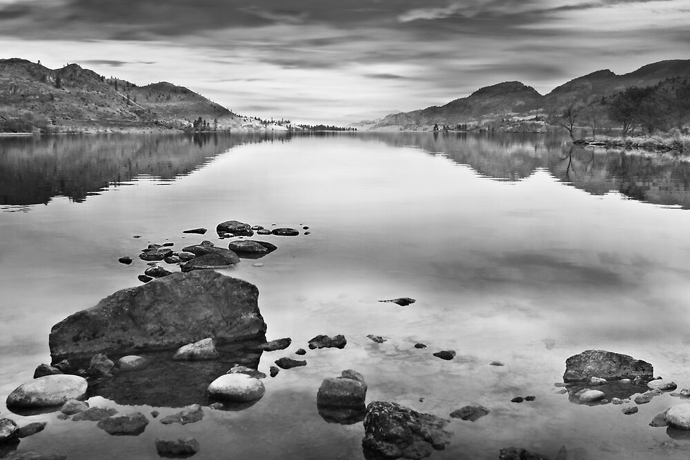 Eerie calm before the storm (bw) by John Poon