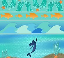 The Little Mermaid Mosaic by AngieBee