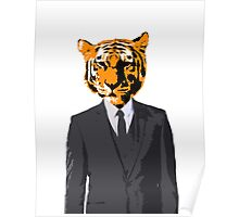 Tiger Businessman Poster