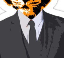 Tiger Businessman Sticker