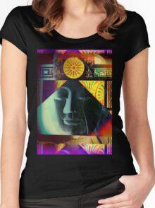 5718 Buddha Women's Fitted Scoop T-Shirt