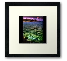 And the flame of the blue star of twilight, hung low on the rim of the sky, Framed Print
