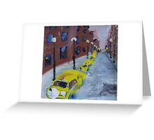 Taxi cabs NYC Greeting Card