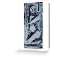 kneeling woman Greeting Card